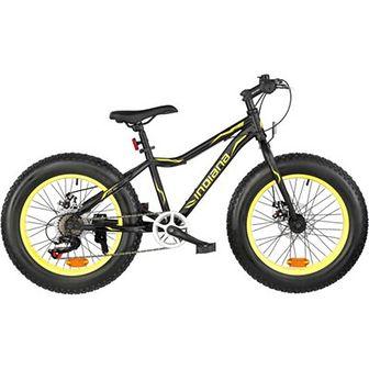 Rower górski MTB INDIANA Fat Bike M18 20 cali męski Żółty