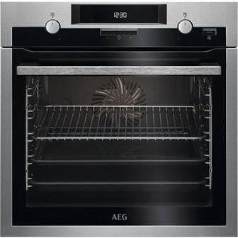 Piekarnik AEG BCE451350M Elektryczny parowy Srebrno-czarny A
