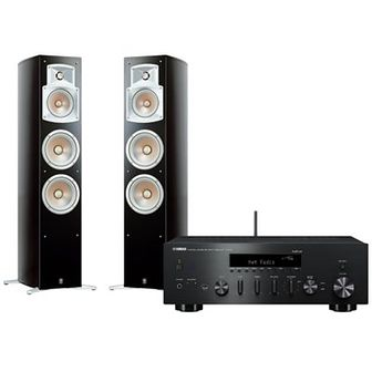 Zestaw stereo YAMAHA R-N602BL+ NS555 Czarny