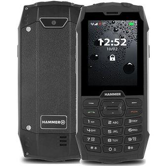 Telefon HAMMER 4 Czarno-srebrny
