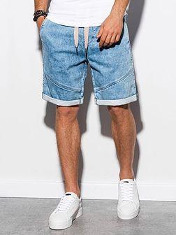 Krótkie spodenki męskie jeansowe W219 - jasny jeans
