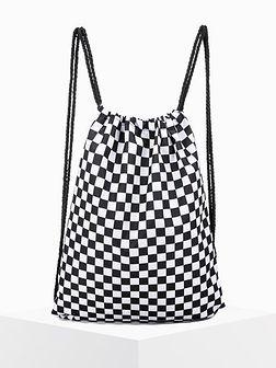Worek plecak męski A269 - czarny/biały