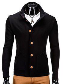 Bluza męska rozpinana bez kaptura CARMELO - czarna