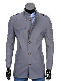 Płaszcz jesienny C269 - szary