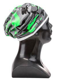 Czapka męska H026 - zielona/moro