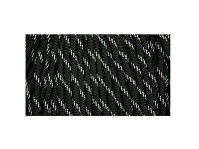 Paracord 550 Military Reflective Tracers Black