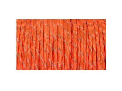 Paracord 550 Military Reflective Tracers Neon Orange