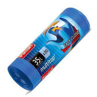 Paclan Multi-Top Worki na śmieci 35 L niebieskie 30 szt.