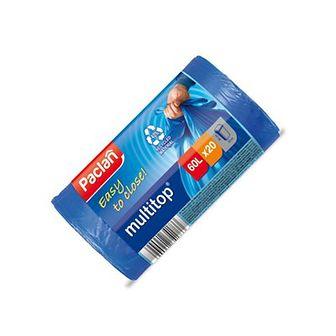PACLAN Multitop Worki na Śmieci Niebieskie 60 L 20 szt.