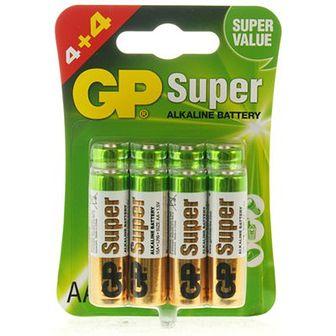 Gp Super alkaline baterie AA 15A LR6 4+4 szt