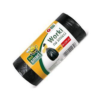 Bee Smart Worki na śmieci czarne 35 l 50 szt.