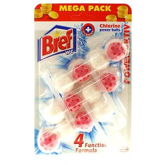 Bref Power Activ Kulki do WC Mega Pack Chlorine 3 x 50 g