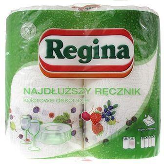 Regina Ręcznik Najdłuższa Rolka zdobiony biały 2 szt.