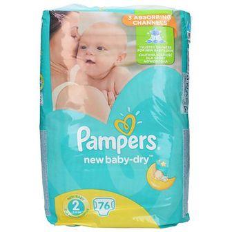 Pampers Economy Pieluchy rozmiar 2 Mini 3-6 kg 76 szt.
