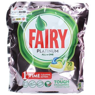 Fairy Platinum Kapsułki do zmywarki All in One Pink Lemon 70 szt.