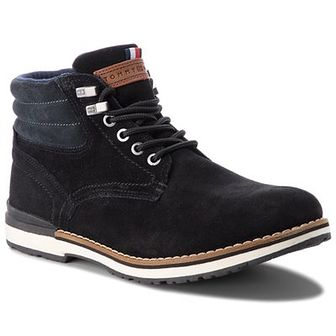 Trapery TOMMY HILFIGER - Outdoor Suede Boot FM0FM01748 Black 990