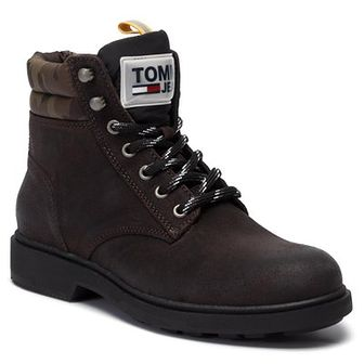 Trapery TOMMY JEANS - Casual Suede Boot EM0EM00315  Magnet 008