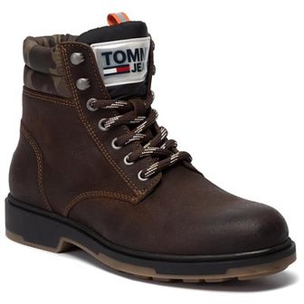Trapery TOMMY JEANS - Casual Suede Boot EM0EM00315  Winter Cognac 906