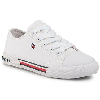 Trampki TOMMY HILFIGER - Low Cut Lace Up Sneaker T3X4-30692-0890 M White 100