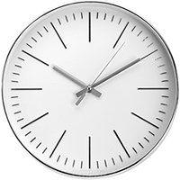 Okrągły zegar ścienny, srebrny - Ø 30 cm
