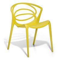 Krzesło do jadalni żółte BEND