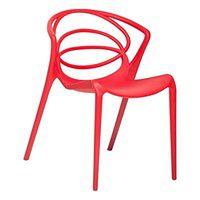 Krzesło do jadalni czerwone BEND