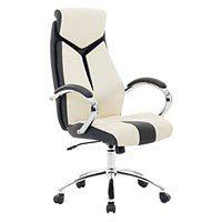 Krzesło biurowe beżowe regulowana wysokość FORMULA 1