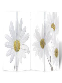 vidaXL Parawan/dzielnik pokojowy w kwiaty (160 x 180 cm)