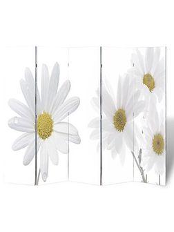 vidaXL Parawan/dzielnik pokojowy w kwiaty (200 x 180 cm)