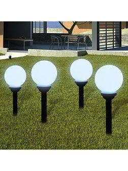 vidaXL Ogrodowe lampy solarne LED 15cm, 4szt z uziemieniem Spike