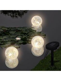vidaXL Pływające Lampy Solarne LED do Basenu/Oczka Wodnego (3szt)