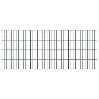 vidaXL 2D Panele ogrodzeniowe 2008x830 mm 44 m szare 22 szt