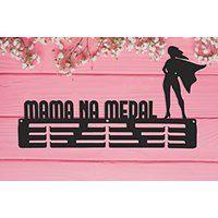 Wieszak na medal MAMA NA MEDAL czarny