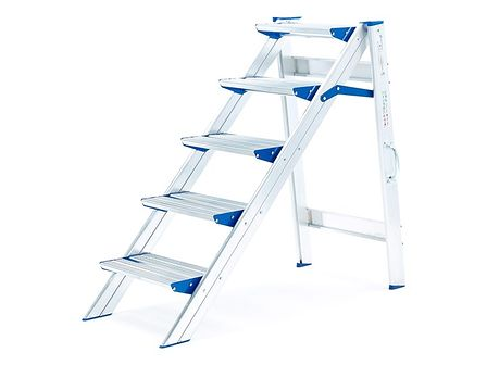 Stabilne schodki składane - 5 schodków