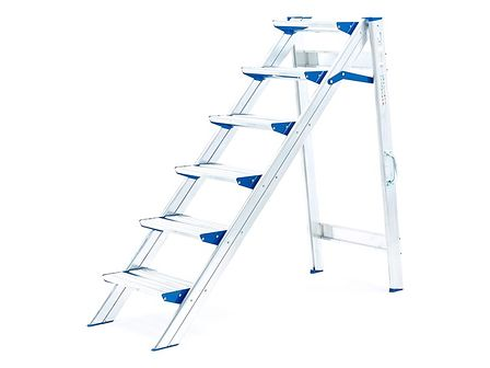 Stabilne schodki składane - 6 schodków