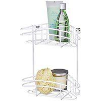 Narożna półka łazienkowa CLASSIC PLUS pod prysznic - 2 poziomy, WENKO
