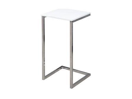 Stolik kawowy Simply 60cm biało-srebrny
