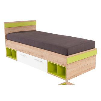 Łóżko 90 x 200 Typ 04 Box Meble Wójcik Dąb San Remo / Biel Alpejska / Biel Alpejska