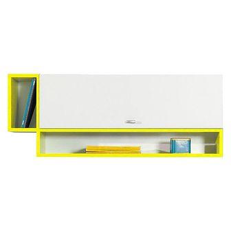 Szafka Wisząca MO13 Mobi Meblar Biały Lux / Żółty