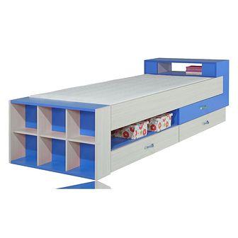 Łóżko 90 x 200 KM17 Komi Meblar Jesion Komi / Blue