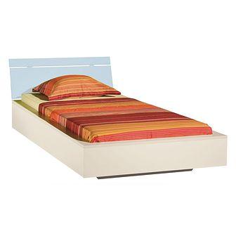Łóżko 90 x 200 LA22 Labirynt Meblar Kremowy / Horyzont