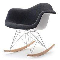 Fotel bujany MPA ROC tap czarny do modnego salonu