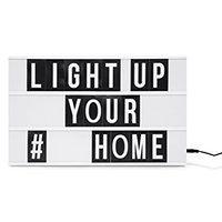 Podświetlana tablica LED biała 60 liter ZEYA