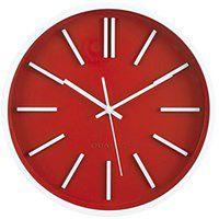 Okrągły zegar ścienny Ø 35 cm Quartz, kolor czerwony