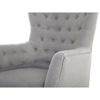 Beliani Fotel tapicerowany szary - krzesło - VIBORG