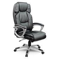 Fotel biurowy skórzany Sofotel EG-227 czarny