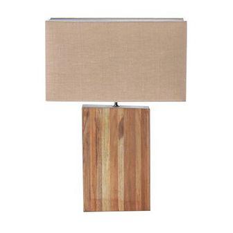 Lampa stołowa Cube Line Teak wys. 56cm