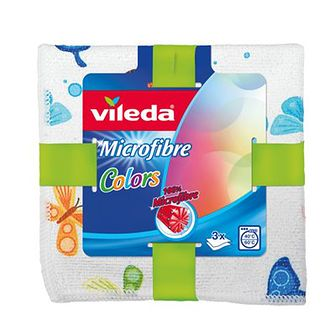 Vileda Ściereczka z mikrofibry VILEDA Colors, 3 szt.