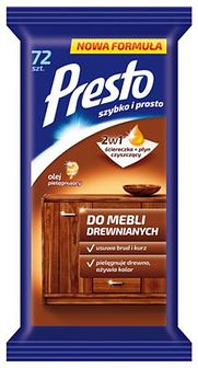 Ściereczki do mebli drewnianych Presto Clean 72 szt