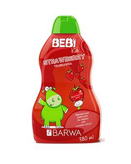BARWA Bebi Kids 2w1 szampon i płyn do kąpieli truskawka 380 ml